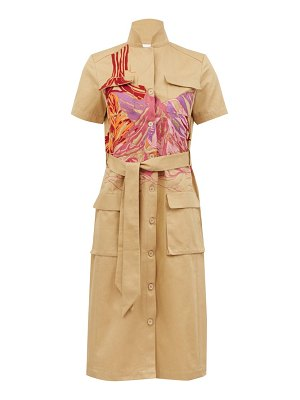 KILOMETRE PARIS bardenas reales cotton shirt dress