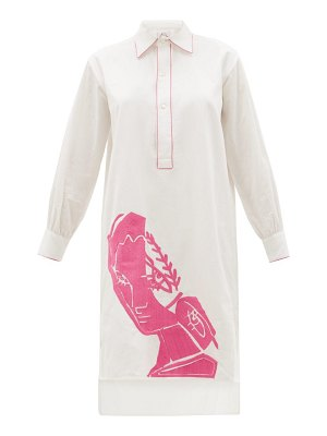 KILOMETRE PARIS villa santo sospir face-embroidered cotton dress