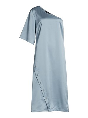 Kimberly Goldson willow satin one-shoulder dress