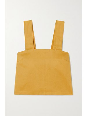 King & Tuckfield lyocell, linen and cotton-blend top