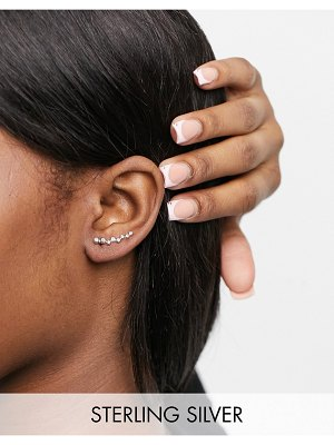 Kingsley Ryan ear climber in sterling silver with cluster crystals