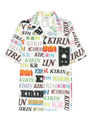 Kirin logo cotton shirt