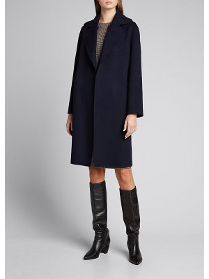 Kiton Reversible Cashmere Belted Double-Breasted Coat