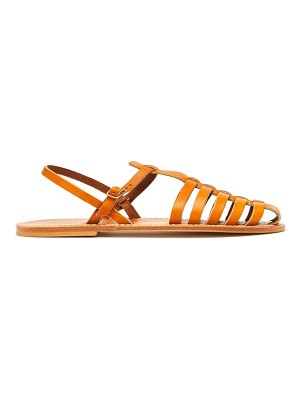 K.JACQUES adrien caged leather slingback sandals