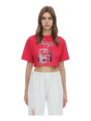 KLSH - KIDS LOVE STAIN HANDS Cropped barbie printed jersey t-shirt