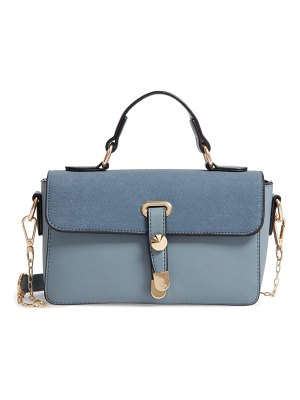 KNOTTY colorblock faux leather satchel
