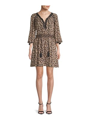 Kobi Halperin Animal-Print Silk Dress
