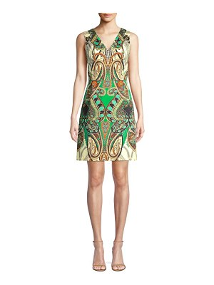 Kobi Halperin Dara V-Neck Print Dress