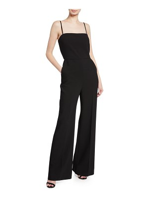 4f0189bbb39 Alice + Olivia Raven Strapless Embroidered Wide-Leg Jumpsuit in ...
