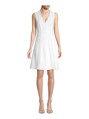 Kobi Halperin Mimi Beaded Linen-Blend Dress