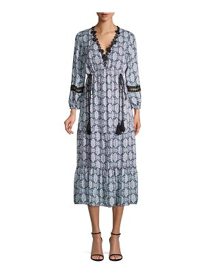Kobi Halperin Silk Peasant Maxi Dress