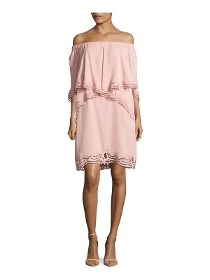 Kobi Halperin Veronica Ruffled Off-The-Shoulder Dress