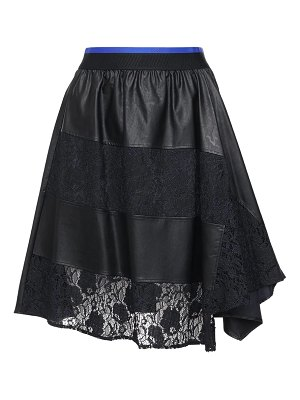 KOCHE' Faux leather & lace knee length skirt