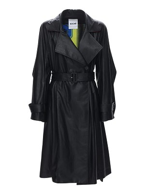KOCHE' Faux leather trench coat