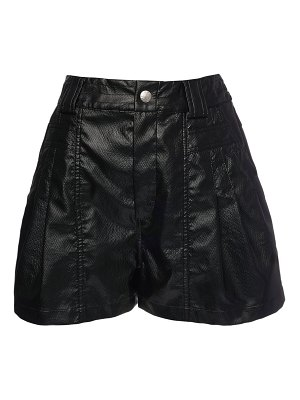 KOCHE' Python embossed faux leather shorts