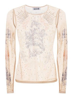KOCHE' Second skin tulle top