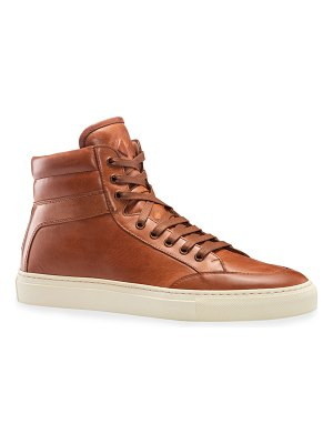 Koio Primo Leather High-Top Sneakers