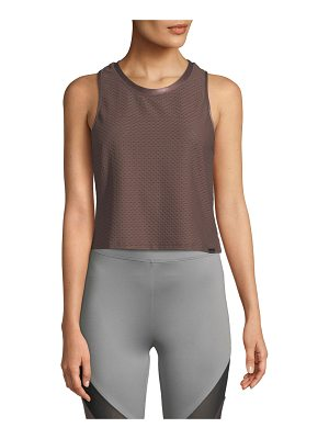KORAL ACTIVEWEAR Crescent Scoop-Neck Crop Top