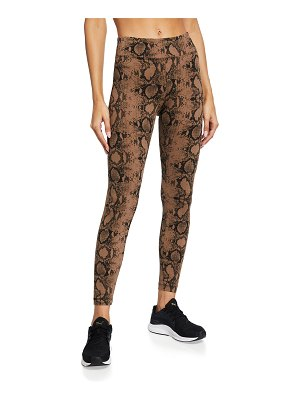 KORAL ACTIVEWEAR Drive Python-Print High-Rise Active Leggings