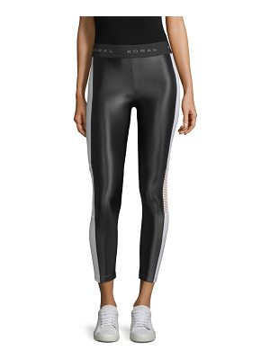 KORAL ACTIVEWEAR emblem cropped leggings