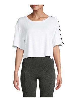 KORAL ACTIVEWEAR Lace-Up Cropped Top