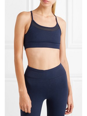 KORAL ACTIVEWEAR pacifica mesh-trimmed stretch jacquard-knit sports bra