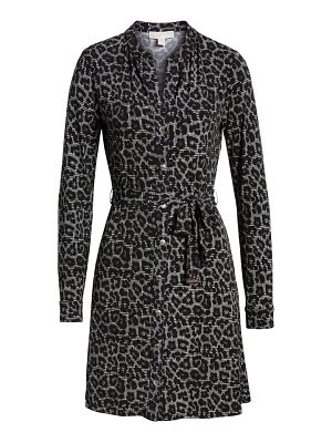 KORS Michael Kors michael michael kors leopard plaid shirtdress