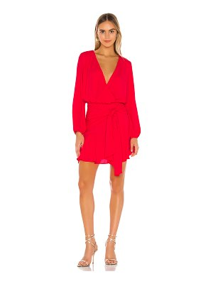 krisa tie waist surplice mini dress