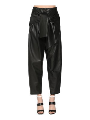 KRIZIA High waist leather pants
