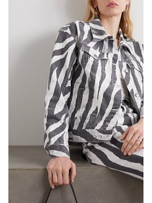 Ksubi static oversized zebra-print denim jacket