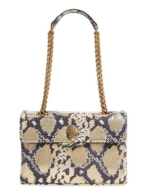 Kurt Geiger London 690 kensington snake embossed leather crossbody bag
