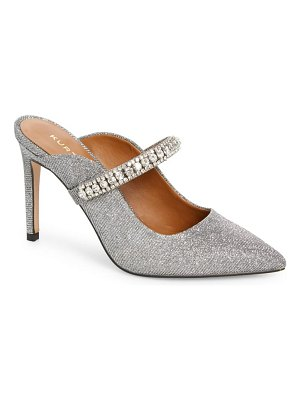 Kurt Geiger London duke crystal strap pointed toe mule