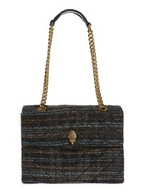 Kurt Geiger London large kensington x tweed shoulder bag