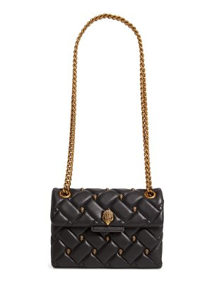 Kurt Geiger London mini kensington eagle studded quilted leather crossbody bag