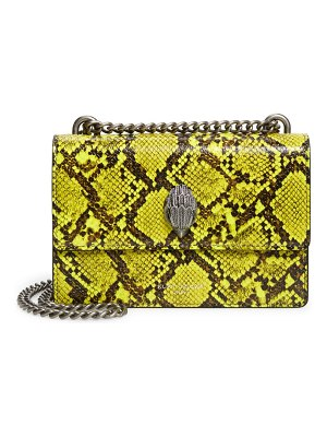 Kurt Geiger London small shoreditch snake embossed leather crossbody bag