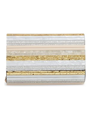 Kurt Geiger London stripe envelope clutch