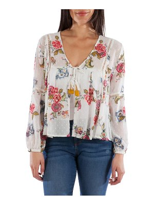 KUT from the Kloth becca floral tassel tie blouse