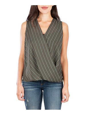 KUT from the Kloth calla sleeveless wrap front top