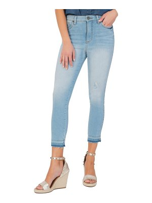 KUT from the Kloth connie high waist released hem crop jeans