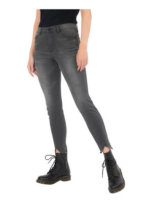 KUT from the Kloth donna fab ab high waist frayed hem ankle skinny jeans
