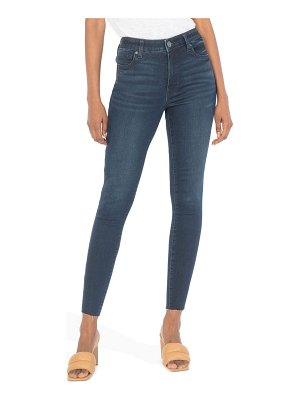 KUT from the Kloth donna fab ab high waist raw hem ankle skinny jeans