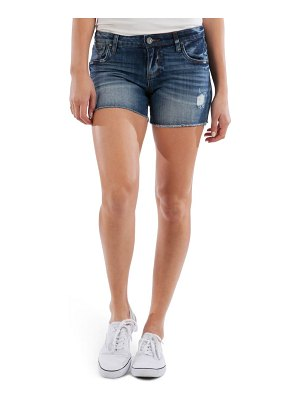 KUT from the Kloth gidget distressed fray hem denim shorts