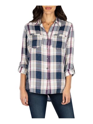 KUT from the Kloth hannah button down plaid shirt