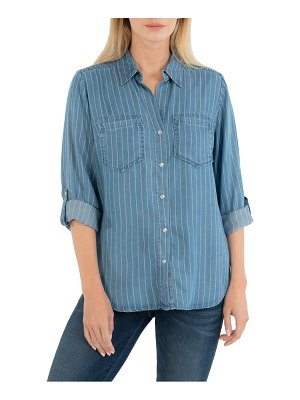 KUT from the Kloth hannah stripe button-up shirt