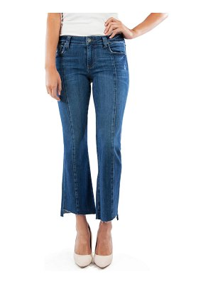 KUT from the Kloth kelsey center seam crop kick flare jeans