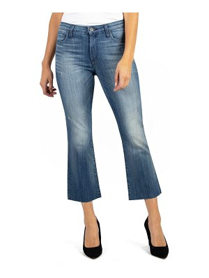 KUT from the Kloth kelsey high waist raw hem kick flare jeans