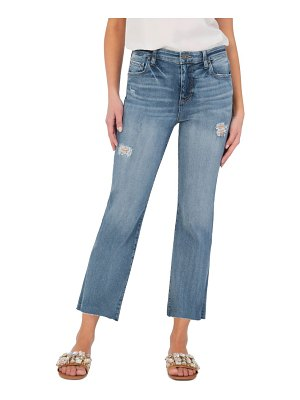 KUT from the Kloth kelsey ripped high waist ankle flare jeans