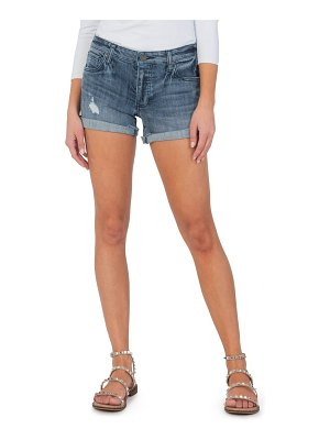 KUT from the Kloth madeline ripped boyfriend shorts