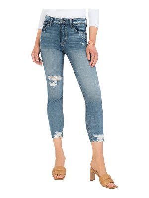 KUT from the Kloth rachael ripped crop mom jeans