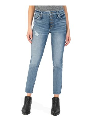 KUT from the Kloth reese fab ab high waist raw hem ankle slim jeans